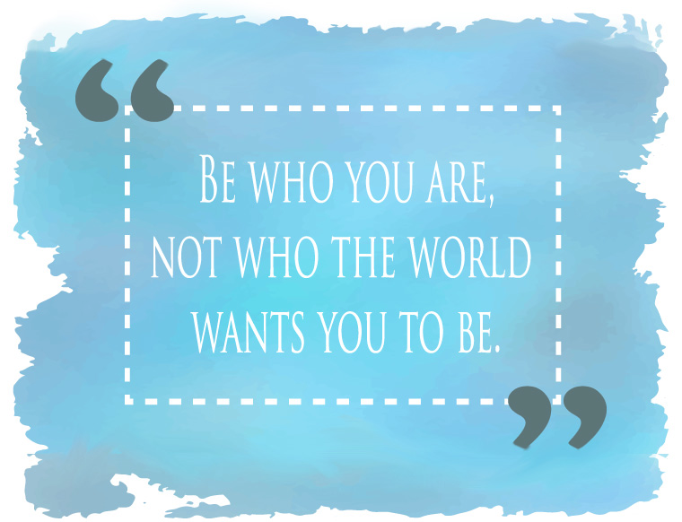 be who you area quote